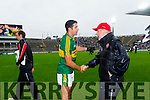 Aidan O'Mahony with Mickey Hearte after defeating Tyrone in the All Ireland Semi Final at Croke Park on Sunday.