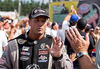 Aug. 4, 2013; Kent, WA, USA: NHRA top fuel dragster driver Bob Vandergriff Jr during the Northwest Nationals at Pacific Raceways. Mandatory Credit: Mark J. Rebilas-USA TODAY Sports