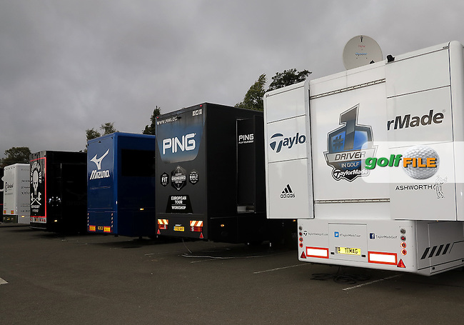 25 Sept 14 The monsterous PING workshop Lorry at The Ryder Cup at The Gleneagles Hotel in Perthshire, Scotland. (photo credit : kenneth e. dennis/kendennisphoto.com)