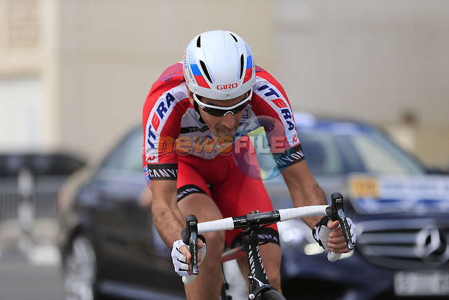 Alberto Losada Alguacil (ESP) Katusha in action during Stage 1, individual time trial over 9.9km, of the inaugural Dubai Tour 2014 held in downtown Dubai, Dubai. 5th February 2014.<br /> Picture: Eoin Clarke www.newsfile.ie