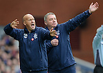 Kenny McDowall and Ally McCoist on the touchline making lovely shapes together