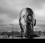 Metalmorphisis statue by artist David Cerny<br /> WWW.DAVIDCERNY.CZ