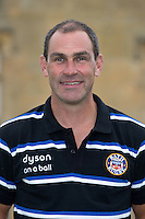 Aaron James, Elite Player Development Group Coach poses for a portrait at a Bath Rugby photocall. Bath Rugby Media Day on August 28, 2014 at Farleigh House in Bath, England. Photo by: Rogan Thomson for Onside Images