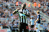 A frustrated Christian Atsu of Newcastle United during Newcastle United vs Tottenham Hotspur, Premier League Football at St. James' Park on 13th August 2017
