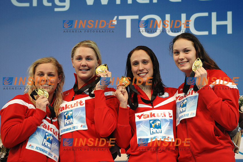 Denmark Gold Medal Women's 4x100 Medley Relay .Istanbul 14/12/2012 Sinan Erdem Dome.World Swimming Championships Short course 25m Nuoto Istanbul.Foto Andrea Staccioli Insidefoto