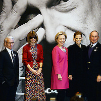 www.acepixs.com<br /> February 16, 2017  New York City<br /> <br /> Anderson Cooper, Anna Wintour, Hillary Clinton, Annette de la Renta and Michael Bloomberg at the press conference for The Oscar de la Renta Forever Stamp First-Day-of-Issue Stamp Dedication Ceremony, Vanderbilt Hall at Grand Central Station on February 16, 2017 in New York City.<br /> <br /> Credit: Kristin Callahan/ACE Pictures<br /> <br /> <br /> Tel: 646 769 0430<br /> Email: info@acepixs.com