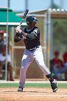 GCL Marlins designated hitter Sleyter Soto (11) at bat during the second game of a doubleheader against the GCL Cardinals on August 13, 2016 at Roger Dean Complex in Jupiter, Florida.  GCL Cardinals defeated GCL Marlins 2-0.  (Mike Janes/Four Seam Images)