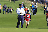 Tiger Woods (Team USA) on the 9th green during Saturday's Foursomes Matches at the 2018 Ryder Cup 2018, Le Golf National, Ile-de-France, France. 29/09/2018.<br /> Picture Eoin Clarke / Golffile.ie<br /> <br /> All photo usage must carry mandatory copyright credit (© Golffile | Eoin Clarke)