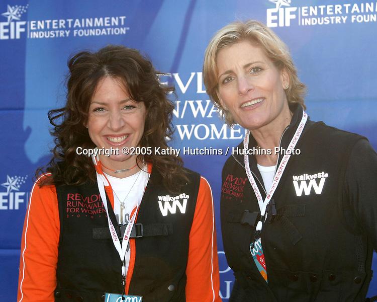 Joely Fisher.Debbie Rocker.Revlon Run/Walk for Women.Los Angeles,  CA.May 7, 2005.©2005 Kathy Hutchins / Hutchins Photoi