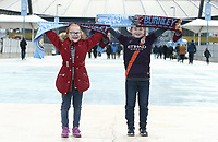 Fans arrive at the Etihad Stadium ahead of kick-off<br /> <br /> Photographer Rich Linley/CameraSport<br /> <br /> Emirates FA Cup Fourth Round - Manchester City v Burnley - Saturday 26th January 2019 - The Etihad - Manchester<br />  <br /> World Copyright © 2019 CameraSport. All rights reserved. 43 Linden Ave. Countesthorpe. Leicester. England. LE8 5PG - Tel: +44 (0) 116 277 4147 - admin@camerasport.com - www.camerasport.com