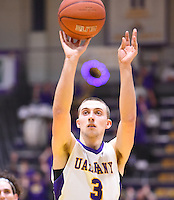 Albany defeats UMBC 78-69 in an America East conference game on February 15, 2017 at SEFCU Arena in Albany, New York.  (Bob Mayberger/Eclipse Sportswire)