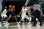 DENTON, TX - NOVEMBER 3: North Texas Mean Green Women's basketball v Texas Women's University (TWU) Basketball at Super Pit - North Texas Coliseum on November 2, 2019 in Denton, Texas.