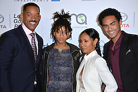 BURBANK, CA. October 22, 2016: Will Smith &amp; Jada Pinkett Smith &amp; Trey Smith &amp; Willow Smith at the 26th Annual Environmental Media Awards at Warner Bros. Studios, Burbank.<br /> Picture: Paul Smith/Featureflash/SilverHub 0208 004 5359/ 07711 972644 Editors@silverhubmedia.com
