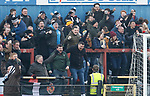 York City 2 Spennymoor Town 2, 20/01/2018. Bootham Crescent, National League North. Spennymoor fans celebrate the equalising goal scored by Ryan Hall.  Photo by Paul Thompson.