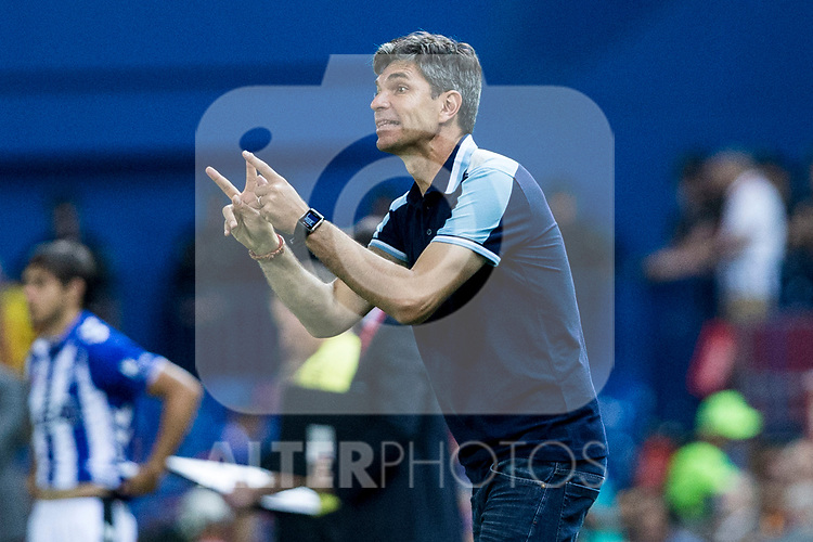 coach Mauricio Pellegrino of Club Deportivo Alaves during the match of  Copa del Rey (King's Cup) Final between Deportivo Alaves and FC Barcelona at Vicente Calderon Stadium in Madrid, May 27, 2017. Spain.. (ALTERPHOTOS/Rodrigo Jimenez)
