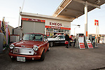 Mar. 13, 2011 - Ibaraki, Japan - A gas station is only made available to government officials two days after the 8.9 magnitude earthquake struck followed by a tsunami that hit the north-eastern region. The death toll is currently unknown with casualties that may run well into the thousands.