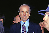 United States Senator Joseph Biden (Democrat of Delaware), Chairman of the US Senate Judiciary Committee, is interviewed following the US Senate vote to confirm Judge Clarence Thomas to be Associate Justice of the US Supreme Court in Washington, DC on October 15, 1991. The vote was 52 - 48 in Thomas' favor.<br /> Credit: Ron Sachs / CNP