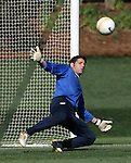 Tony Meola, who is scheduled to earn his 100th cap, or international appearance on Monday, April 10th, 2006 at SAS Stadium in Cary, North Carolina. The United States Men's National Team practiced the day before playing an international friendly against Jamaica.