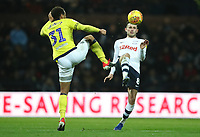 Blackburn Rovers' Elliott Bennett and Preston North End's Alan Browne<br /> <br /> Photographer Rachel Holborn/CameraSport<br /> <br /> The EFL Sky Bet Championship - Preston North End v Blackburn Rovers - Saturday 24th November 2018 - Deepdale Stadium - Preston<br /> <br /> World Copyright &copy; 2018 CameraSport. All rights reserved. 43 Linden Ave. Countesthorpe. Leicester. England. LE8 5PG - Tel: +44 (0) 116 277 4147 - admin@camerasport.com - www.camerasport.com