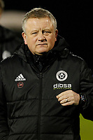 Sheffield United manager, Chris Wilder seen during the Sky Bet Championship match between Fulham and Sheff United at Craven Cottage, London, England on 6 March 2018. Photo by Carlton Myrie.