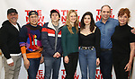 """Scott Elliott, Nico Santos, Marin Ireland, Tedra Millan, Daniel Oreskes and Susan Sarandon attends the first day of rehearsal for the New Group's production of """"Happy Talk"""" at The New 42nd Street Studios on April 1, 2019 in New York City."""