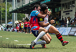 BGC Dragons vs Newedge Club during day 1 of the 2014 GFI HKFC Tens at the Hong Kong Football Club on 26 March 2014. Photo by Xaume Olleros / Power Sport Images