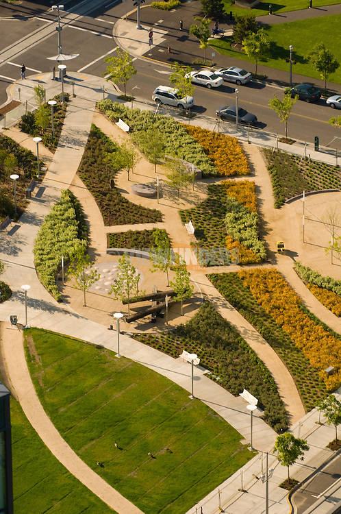 Aerial View of Elizabeth Caruthers Park at South Waterfront Portland