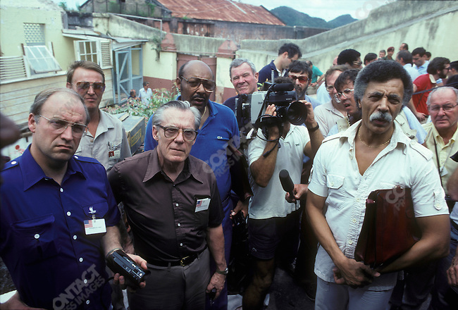 Dick Cheney (far left),US Congressmen, visits Grenada after US invasion, November 1983.