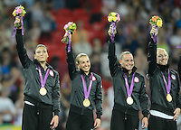London, England - Thursday, August 9, 2012: The USA defeated Japan 2-1 to win the London 2012 Olympic gold medal at Wembley Stadium.