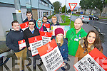 Junior doctors on strike at Kerry General Hospital on Tuesday were from left: Ciaran McDonald, David Healy, Roy Gavinstone, Laragh Stevens, Thomas Downey, James McGrath, Mary O'Callaghan, Ken Keohane and Claire Daly.