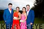 Enjoying a great time at the Milltown Presentation Debs at Ballyroe Heights Hotel on Tuesday were Keith Moloney, Danielle Garland, Rachel Coffey and Brendan Cronin
