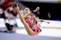 Budapest, Hungary, September 27, 2003 (UPI) -- Rhythmic gymnastic star ANNA BESSONOVA of Ukraine wins  Silver medal in All-Around final at 2003 Rhythmic Gymnastics World Championships.