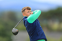 John Brady of Ireland during day 1 of the Boys' Home Internationals played at Royal Dornoch, Dornoch, Sutherland, Scotland. 07/08/2018<br />