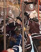 The Dutchmen celebrate Shayne Gostisbehere's (Union - 14) goal. - The Union College Dutchmen defeated the University of Minnesota Golden Gophers 7-4 to win the 2014 NCAA D1 men's national championship on Saturday, April 12, 2014, at the Wells Fargo Center in Philadelphia, Pennsylvania.