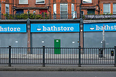 Closed Bathstore Branch, Finchley Road, London. 124 Bathstore branches closed down in 2019.  The remaining 44 were taken over by Homebase.