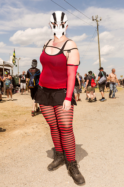 May 8, 2016. Concord, North Carolina. <br />  Fan portraits.<br />  The 2016 Carolina Rebellion was held over May 6-8 next to the Charlotte Motor Speedway and featured over 50 bands including headliners Lynyrd Skynyrd, The Scorpions, Five Finger Death Punch, Disturbed, and Rob Zombie.