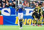 Stockholm 2015-05-25 Fotboll Allsvenskan Djurg&aring;rdens IF - AIK :  <br /> Djurg&aring;rdens Omar Colley deppar efter 0-2 f&ouml;r AIK:s under matchen mellan Djurg&aring;rdens IF och AIK <br /> (Foto: Kenta J&ouml;nsson) Nyckelord:  Fotboll Allsvenskan Djurg&aring;rden DIF Tele2 Arena AIK Gnaget depp besviken besvikelse sorg ledsen deppig nedst&auml;md uppgiven sad disappointment disappointed dejected