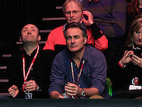 FlogIt presenter Paul Martin in the crowd during the Dafabet Masters FINAL between Barry Hawkins and Ronnie O'Sullivan at Alexandra Palace, London, England on 17 January 2016. Photo by Liam Smith / PRiME Media Images