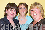 ANNUAL: Liz Hogan (Ballyroe), Regina Walsh and Ann Walsh (Tralee) were at the Lee Strand Annual Social at the Brandon Hotel, Tralee, on Saturday night..