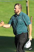 Shane Lowry (IRL) finishes on the 18th green during Thursday's Round 1 of the 2018 Turkish Airlines Open hosted by Regnum Carya Golf &amp; Spa Resort, Antalya, Turkey. 1st November 2018.<br /> Picture: Eoin Clarke | Golffile<br /> <br /> <br /> All photos usage must carry mandatory copyright credit (&copy; Golffile | Eoin Clarke)