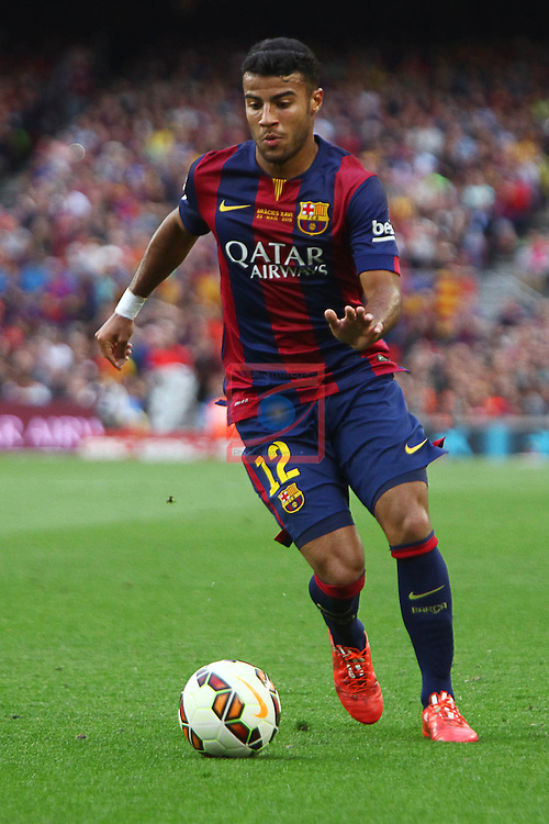 League BBVA 2014/2015. Game: 38.<br /> FC Barcelona vs Deportivo: 2-2.<br /> Rafinha.