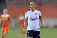Houston, TX - Thursday Aug. 18, 2016: Ali Krieger during a regular season National Women's Soccer League (NWSL) match between the Houston Dash and the Washington Spirit at BBVA Compass Stadium.
