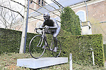 Monument in honour of Tour hero Jef Planckaert in Ootegem, Flanders, Belgium. 23rd March 2017.<br /> Picture: Eoin Clarke | Cyclefile<br /> <br /> <br /> All photos usage must carry mandatory copyright credit (&copy; Cyclefile | Eoin Clarke)