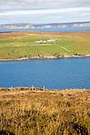 Isolated croft farmhouse, Otterswick, Yell, Shetland Islands, Scotland