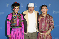 BERLIN, GERMANY - FEBRUARY 8: Dulamjav Enkhtaivan, Wang Quan&rsquo;an and Norovsambuu Batmunkh attend the Oendoeg photocall during the 69th Berlinale International Film Festival Berlin at the Grand Hyatt Hotel on February 8, 2019 in Berlin, Germany.<br /> CAP/BEL<br /> &copy;BEL/Capital Pictures