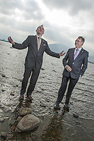 3-3-2013: REPRO FREE: Michael Vaughan President, left and Tim Fenn, Chief Executive pictured on the shore of Lough Lein in Killarney on Sunday as hoteliers from all over Ireland arrive for the 75th annual Irish Hotels Federation Conference in The Malton Hotel..Picture by Don MacMonagle..PR photo from IHF.Further info: Eoin  Quinn Weber-Shandwick +353872332191