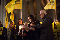 Tina Marinari (Campaign Coordinator for Amnesty International Italia) reads the letter written by Giulio Regeni's Parents.<br />
