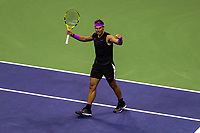 Rafael Nadal of Spain celebrates his victory during his Men's Singles semi-final match against Matteo Berrettini of Italyon day twelve of the 2019 US Open at the USTA Billie Jean King National Tennis Center on September 06, 2019 in Queens borough of New York City. <br /> CAP/EL<br /> ©Elena Leoni/Capital Pictures