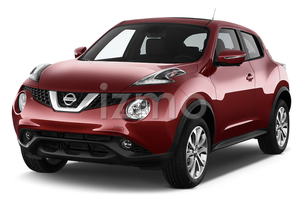 2017 Nissan JUKE SV 5 Door SUV Angular Front stock photos of front three quarter view