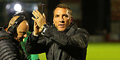 8th September 2017, SuperSeal Stadium, Hamilton, Scotland; Scottish Premier League football, Hamilton versus Celtic; Brendan Rodgers applauds the fans after the match